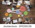 plan co working space mind... | Shutterstock . vector #399200158