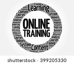 online training circle word... | Shutterstock .eps vector #399205330