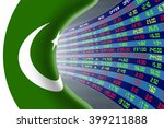 national flag of pakistan with... | Shutterstock . vector #399211888