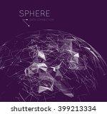 plexus vector background | Shutterstock .eps vector #399213334