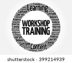 workshop training circle word... | Shutterstock .eps vector #399214939