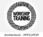 workshop training circle word... | Shutterstock .eps vector #399214939