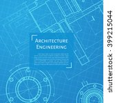 vector technical blueprint of ... | Shutterstock .eps vector #399215044