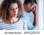 close up of unhappy woman  man... | Shutterstock . vector #399220570