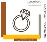 web line icon. diamond ring. | Shutterstock .eps vector #399237994