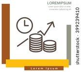 web line icon. business idea ... | Shutterstock .eps vector #399239410