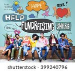 fundraising funds capital aid... | Shutterstock . vector #399240796