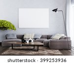 mock up blank poster on the... | Shutterstock . vector #399253936