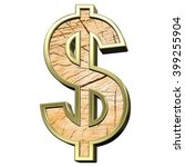dollar sign from pine wood with ...   Shutterstock . vector #399255904