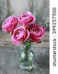 Beautiful Pink Roses  Wooden...