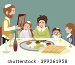 feast of passover | Shutterstock .eps vector #399261958