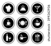 food   restaurant icons silver... | Shutterstock . vector #399262936