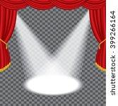 vector transparent empty red... | Shutterstock .eps vector #399266164