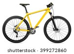 yellow 29er mountain bike... | Shutterstock . vector #399272860