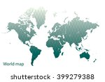 world map | Shutterstock .eps vector #399279388