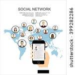 global social network abstract...   Shutterstock .eps vector #399282286