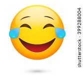 emoticon laugh. isolated... | Shutterstock .eps vector #399288004