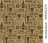 beer pattern  | Shutterstock .eps vector #399291274