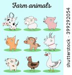farm animals vector... | Shutterstock .eps vector #399292054