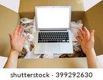 user hands worshiping  new...   Shutterstock . vector #399292630