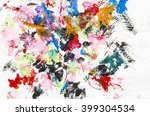 abstract art in water and... | Shutterstock . vector #399304534