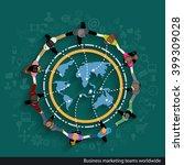 vector business marketing teams ... | Shutterstock .eps vector #399309028