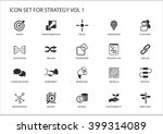 strategy icon set. various... | Shutterstock .eps vector #399314089