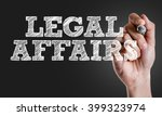 Small photo of Hand writing the text: Legal Affairs