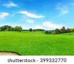 idyllic golf course with forest ... | Shutterstock . vector #399332770