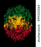 rasta theme with lion head on... | Shutterstock .eps vector #399333364