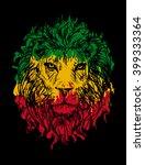 rasta theme with lion head on... | Shutterstock .eps vector #399333364
