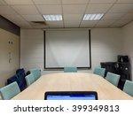 simple boardroom in it... | Shutterstock . vector #399349813