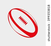 balls for rugby  american... | Shutterstock .eps vector #399353818