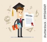 salesman got diploma of... | Shutterstock .eps vector #399364069