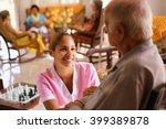 old people in geriatric hospice ... | Shutterstock . vector #399389878