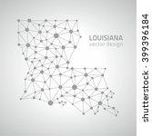 louisiana polygonal silver map | Shutterstock .eps vector #399396184