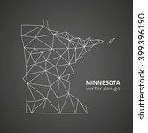 minesotta grey vector map | Shutterstock .eps vector #399396190