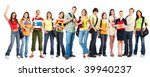 large group of smiling ... | Shutterstock . vector #39940237