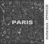 paris chalk line art design... | Shutterstock .eps vector #399404230
