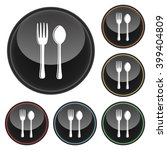 fork and spoon silverware icon... | Shutterstock .eps vector #399404809