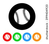 baseball icon vector with four... | Shutterstock .eps vector #399404920