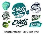 set of calligraphic handwritten ... | Shutterstock .eps vector #399405490