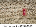 Old Uk Post Box Embedded In A...