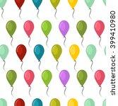 balloons seamless pattern... | Shutterstock .eps vector #399410980