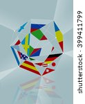 flags composition in a diamond... | Shutterstock . vector #399411799