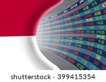 national flag of indonesia with ... | Shutterstock . vector #399415354