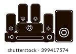 black and white logo for audio... | Shutterstock .eps vector #399417574