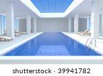 luxury swimming pool   3d render | Shutterstock . vector #39941782