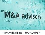 inscription m a advisory on a... | Shutterstock . vector #399420964