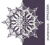 circular floral pattern ... | Shutterstock .eps vector #399423304